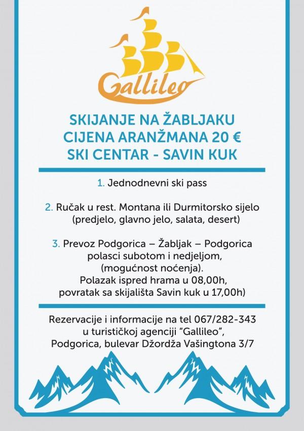 TC DURMITOR ZABLJAK - Flajer